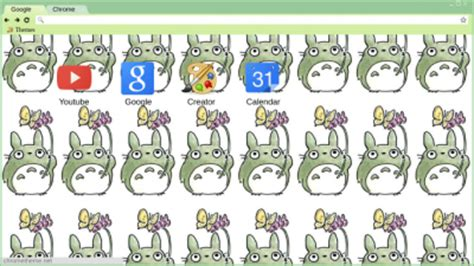 google theme totoro totoro chrome themes themebeta