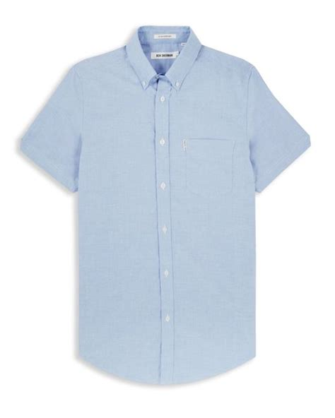 Ben Sherman Classic Short Sleeved Oxford Shirt In Ballerina Size M | ben sherman classic oxford short sleeve shirt in blue for