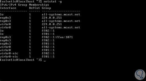 tutorial netstat linux comandos netstat para administrar red en linux solvetic
