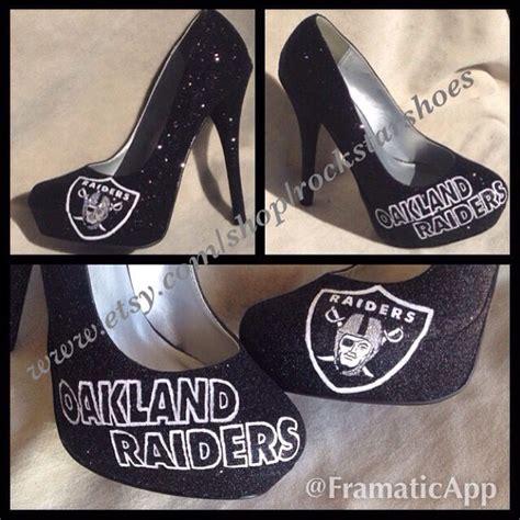 raiders high heels oakland raiders custom heels rockstarshoes yahoo
