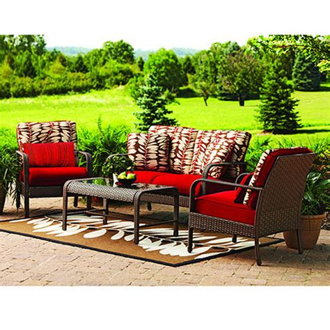 hometrends rushreed conversation set replacement cushions
