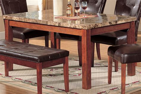 Marble Top Rectangular Dining Table Acme Bologna Marble Top Rectangular Dining Table In Brown 07045sm Dining Tables Dining Kitchen