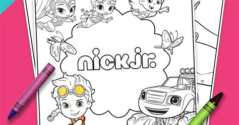 Nick Jr Coloring Pages Spring | fan club exclusive springtime coloring pack nickelodeon