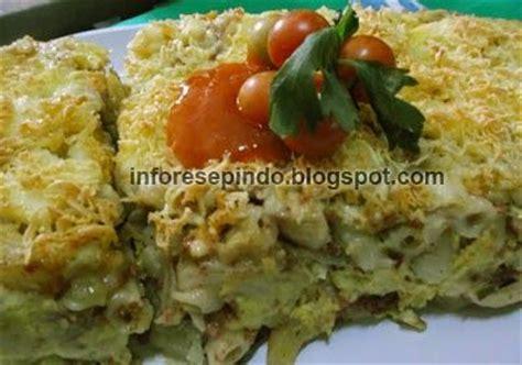 Oven Panggang Kue macaroni schotel kentang panggang oven resep masakan