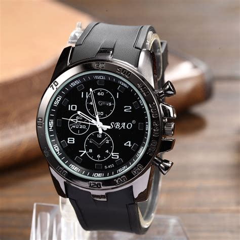 50mm large sport watches waterproof casual quartz
