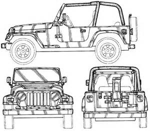 car blueprints jeep wrangler blueprints vector drawings