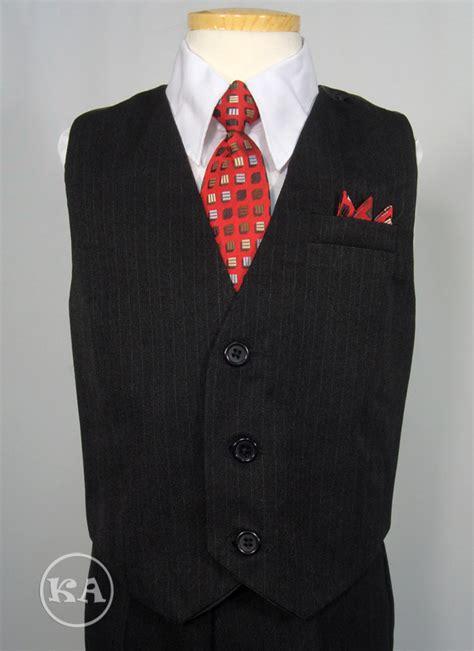 Set Boy W 4 pc boys vest set w white shirt and tie
