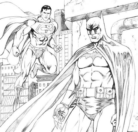 Batman V Superman Coloring Pages by Batman Coloring Pages Bestofcoloring
