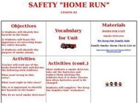 lesson plan home safety house design plans