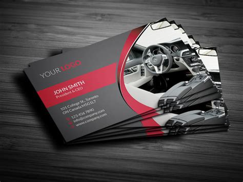 rent a car business card business card templates on