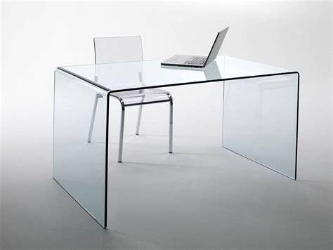 schmaler computertisch chalet schreibtisch glas