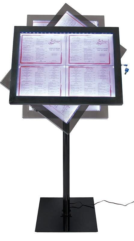 Meidi Set Bl porte menu 4 pages a4 lumineux sur pied smcs 4a4 bl set