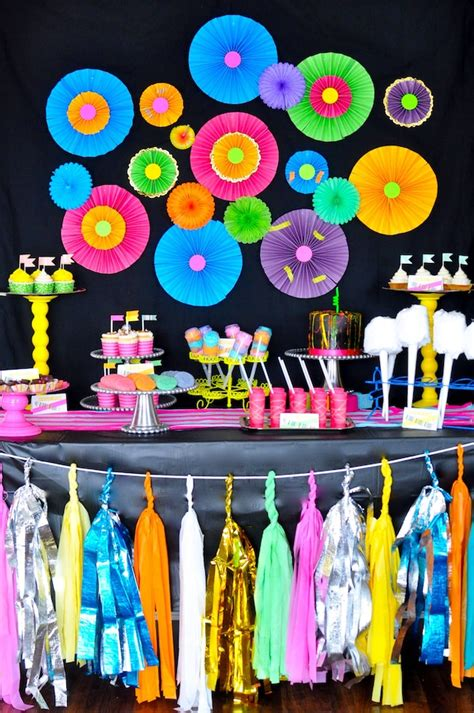 party themes glow in the dark decade parties girls night out teen tween gender neutral