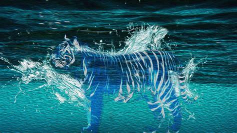 Murals On Wall water tiger oilpaint by tehjep116 on deviantart