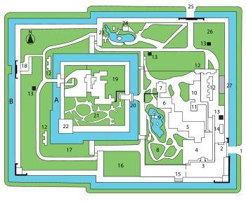 japanese castle floor plan nijō castle wikipedia
