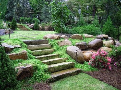 how to level a backyard with a slope backyard landscaping on a slope near house sloped
