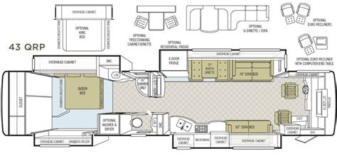 bus motorhome floor plans tiffin allegro bus 43qrp photos details brochure floorplan