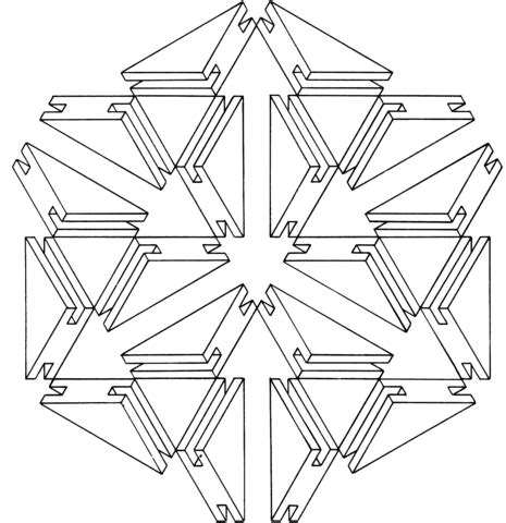 Illusion Coloring Pages To Print
