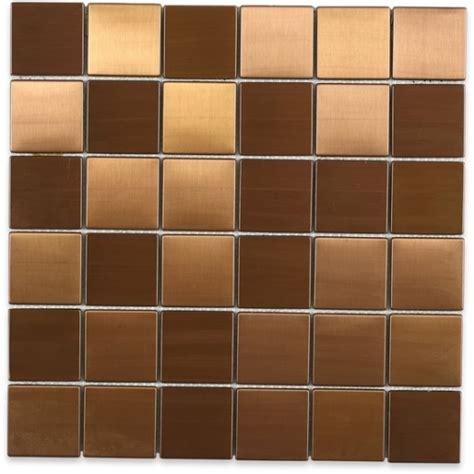 Brush Metal Copper 2x2 Metal Tile by Soho Studio METSQCPR