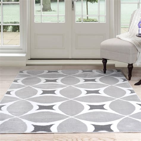 Grey And White Area Rug Gray Rugs Walmart Somerset Home Geometric Area Rug Grey And White Loversiq