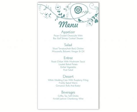 free printable wedding menu card templates wedding menu template diy menu card template editable text