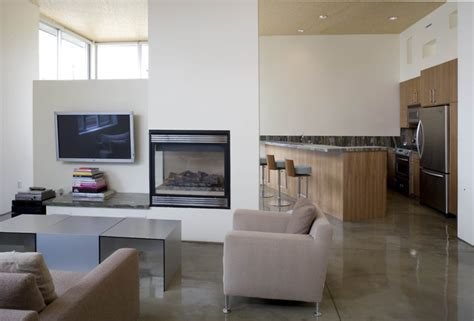 fireplace room divider fireplace a divider of space by mgs architecture