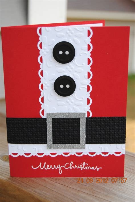 Handcraft Card - handcrafted santa suit card