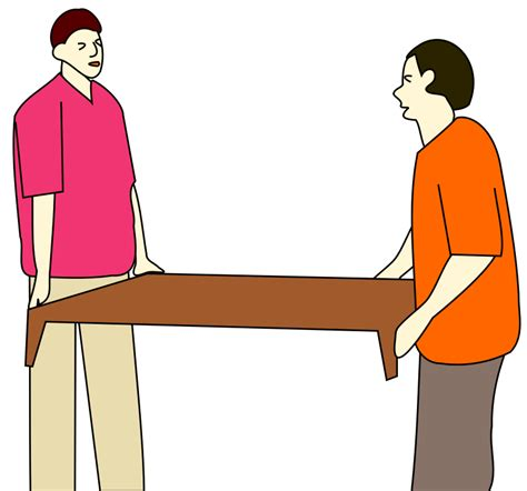 clipart are moving a table