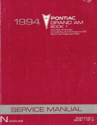 car repair manual download 1994 pontiac grand am head up display 1994 pontiac grand am factory service manual 2 volume set