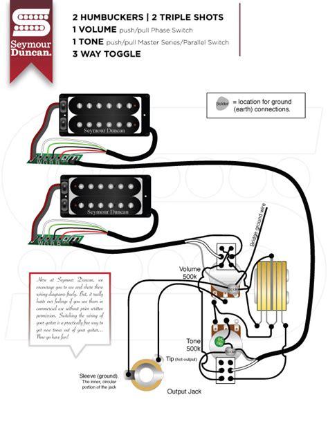 seymour duncan wiring diagram 2 humbuckers