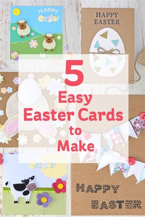 how to make a easy card 5 easy easter cards to make hobbycraft