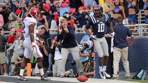 section 6 football scores sec football week 6 ole miss stuns alabama mississippi