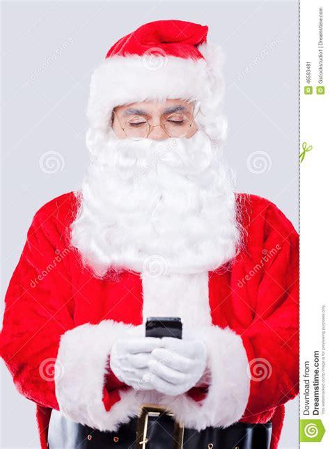 digital age santa stock photo cartoondealer com 46563486