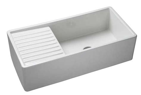 Belfast Sink With Integrated Drainer by Ceramic Sinks Homebuilding Renovating