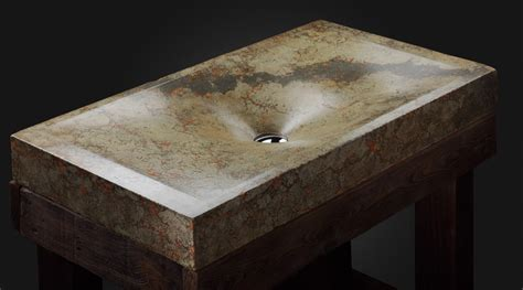 Handcrafted concrete sinks from pietra danzare