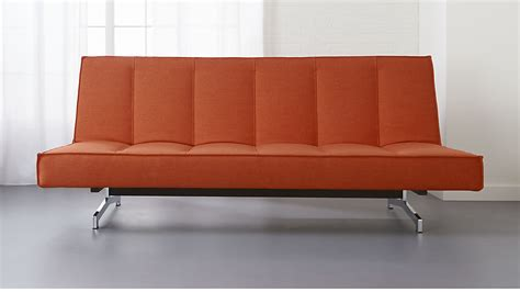 flex couch orange sofa bed flex orange sleeper sofa cb2 thesofa