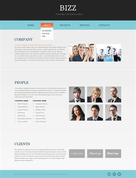html5 business template free html5 business theme