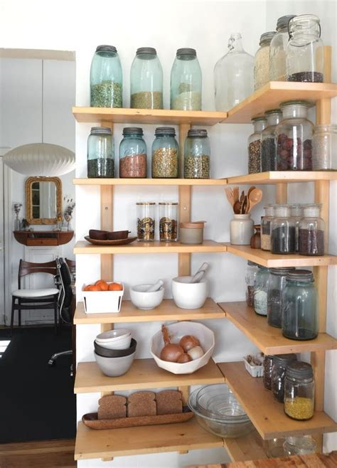 Open Kitchen Pantry Shelving 15 Ways To Diy Creative Corner Shelves