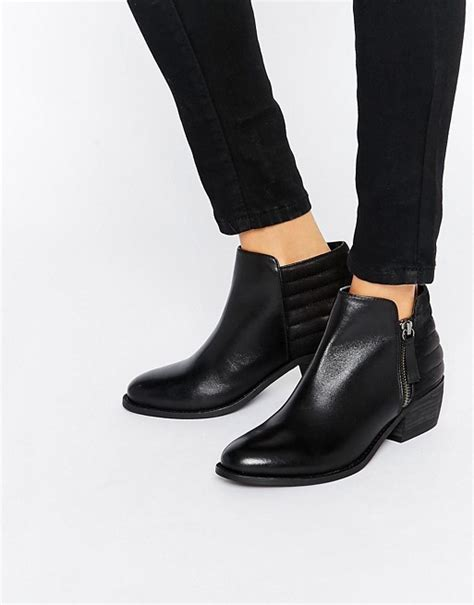 dune dune petrie black leather ankle boot