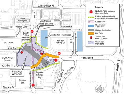 construction site plan ttc station contractor begins work for york university