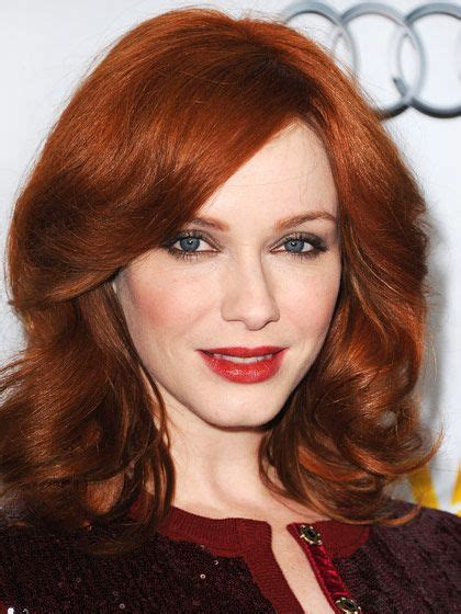 redhead christina hendricks the 8 most beautiful hair color ideas for redheads hair