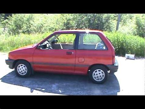 how to learn about cars 1990 ford festiva instrument cluster 1990 ford festiva lx youtube