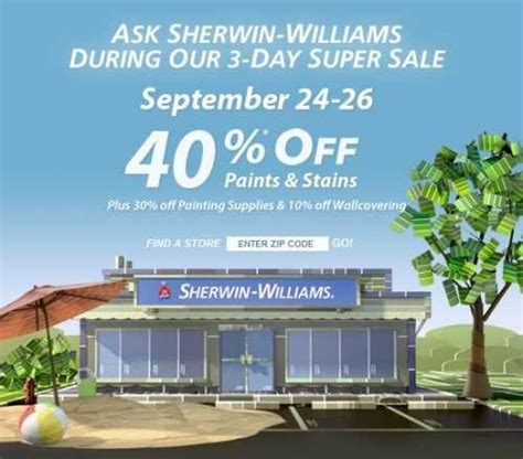sherwin williams paint sale 2017 sherwin williams sale 40 off paints and stains 10 off