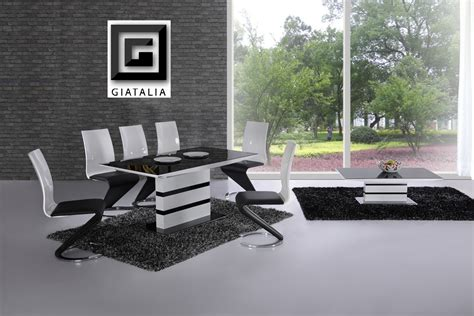 Prissilia Kitchen Set Table 160 ga k2 small extending black white 120 160 cm dining set 4