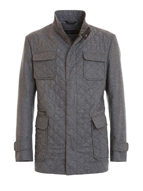 Quilted Clothing by Wool And Quilted Jacket By Corneliani Casual Jackets Ikrix