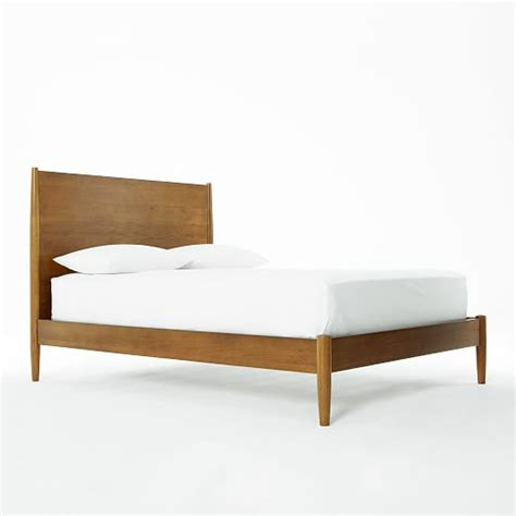 west elm beds mid century bed acorn west elm