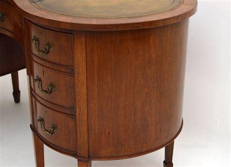 antique kidney shaped desk antique edwardian mahogany kidney shaped desk antiques atlas