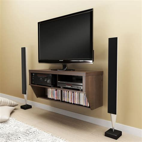 wall mount tv cabinet espresso 42 wide wall mounted av console