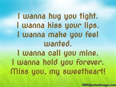 I Wanna by I Wanna Hug You Tight Missing You Sms Quotes Image