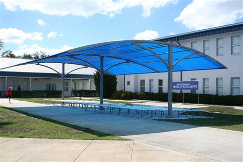 pool awnings design exteriors brick columns pergola defines the patio